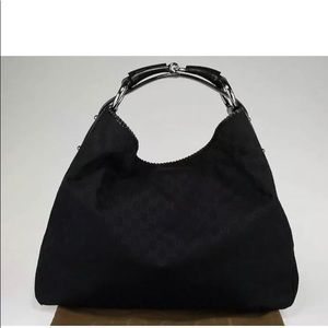 Gucci GG Monogram Canvas Large Horsebit Hobo